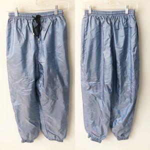 Vintage Metallic Puffer Pants